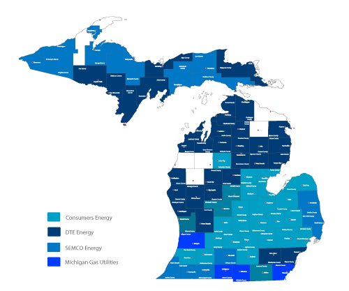 michigan natural gas suppliers by county
